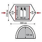 Палатка Tramp Nishe 2 м, v2 TRT-053. Палатка Tramp. Палатка туристическая. палатка туристическая, фото 4