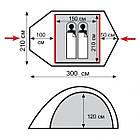 Палатка Tramp Space 2 м, v2 TRT-058. Палатка Tramp Space 2. Палатка туристическая. палатка туристическая, фото 3
