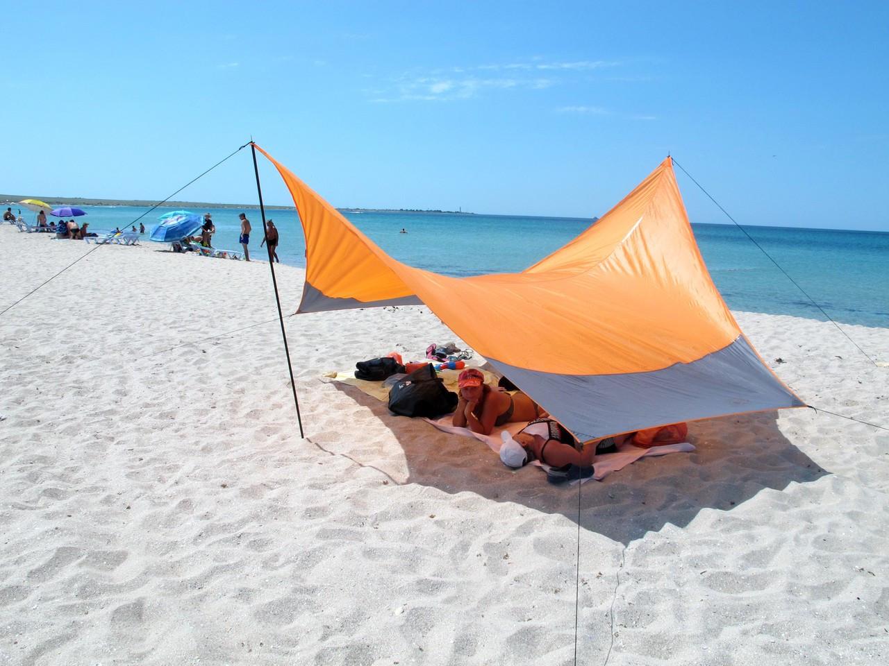 Тент Tramp Lite 440 x 440 см оранжевый TLT-011. Тент туристический. тент кемпинговый