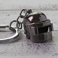 Брелок БКИ 2014 Объемный шлем PUBG маленький (серебро), фото 1