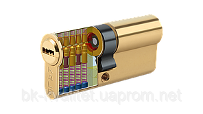 Цилиндр KALE 164 BNE 62мм (31х31) латунь, повышенной секретности ключ/ключ