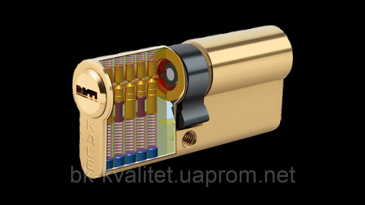 Цилиндр KALE 164 BNE 70мм (35х35)  латунь, повышенной секретности ключ/ключ