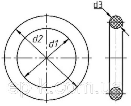 Кольца резиновые 004-007-19 ГОСТ 9833-73