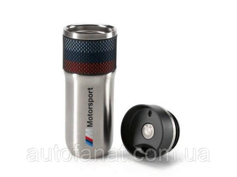 Оригинальная термокружка BMW M Motorsport Thermal Mug, Silver/Black (80232461130)