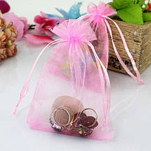 Мешочек из органзы 10х15 см Розовый