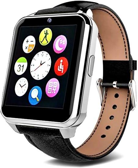Умные часы Smart Watch W90 black черные кожаный ремешок