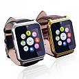 Умные часы Smart Watch W90 black черные кожаный ремешок, фото 2