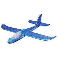 Детский планирующий светящийся самолетик синий 49 см 131847, фото 1
