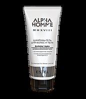Шампунь-гель для мужчин для волос и тела ALPHA HOMME MMXVIII, 200 мл