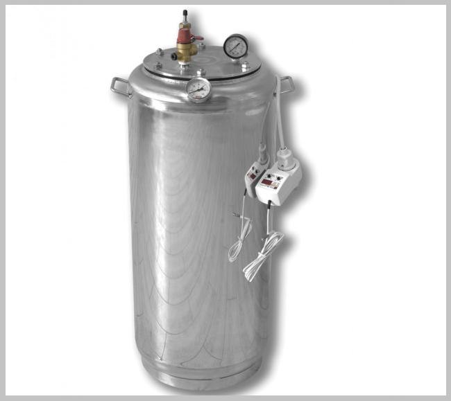 Автоклав А 32 электро ( 21 банок- 1л 32 банок-0,5 л) из нержавеющей стали
