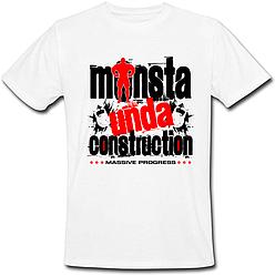 Чоловіча футболка Monsta Unda Construction (біла)