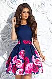 Очень красивое вечернее платье с цветным принтом 42,44,46р, фото 3