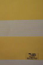Рулонные шторы день-ночь желтые BH-1203