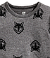 Стильный темно-серый лонгслив с волками на мальчика 2 - 4 года, р. 98 - 104, H&M, фото 2