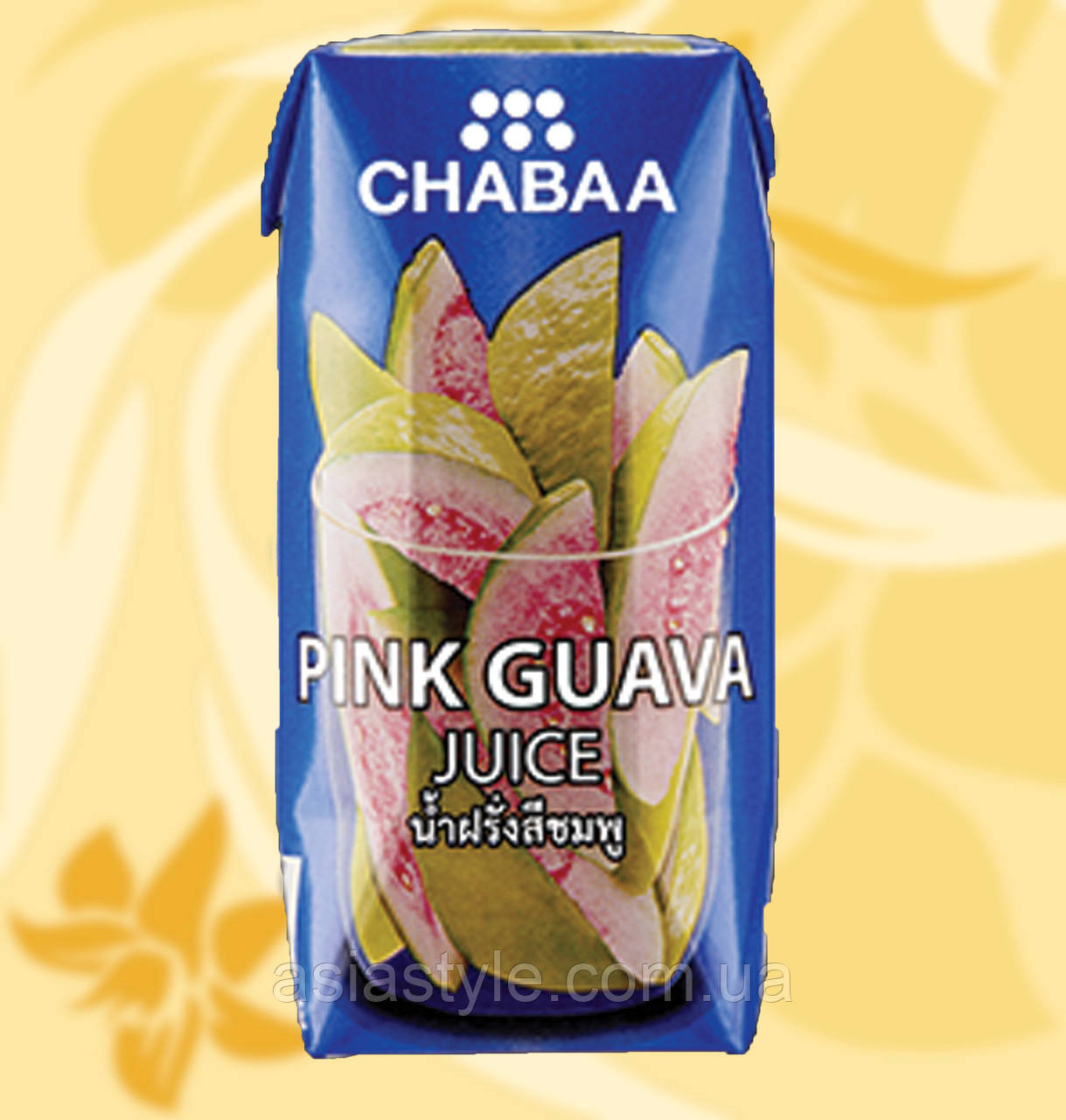 Сік Рожевої гуави, Pink Guava Juice, Chaaba, 180 мл, Таїланд, АФ, Ч