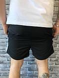 Молодіжні Чоловічі Шорти Бриджі Armani чорні Якість Туреччина Брендові репліка, фото 3