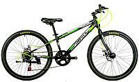 Велосипед спортивный Impuls 24 COLORADO, черно-салатовый.