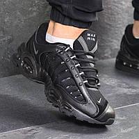 Мужские кроссовки демисезонные Nike Air Max 7691 черные, фото 1