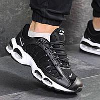 Мужские кроссовки демисезонные Nike Air Max 7689 черные с белым, фото 1