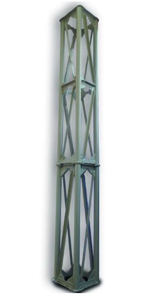 Опорная конструкция квадратная для дымохода PlusTerm (секция 2м. под внешний диаметр дымохода 360мм)