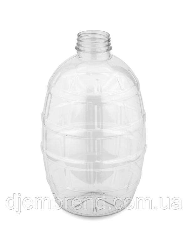 Бутылка пластиковая пивная боченок, 1 л , 150 шт с крышкой