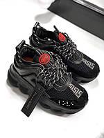 Жіночі кросівки Versace Chain Reaction 2 Red , Репліка, фото 1