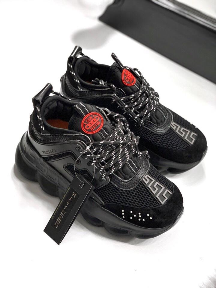 Жіночі кросівки Versace Chain Reaction 2 Red , Репліка