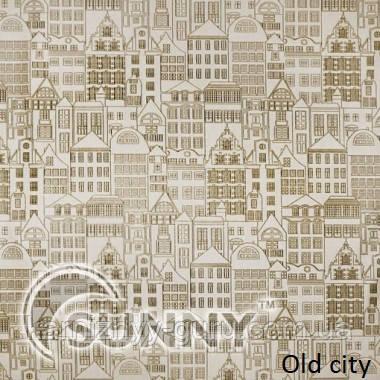 Рулонные шторы для окон в закрытой системе Sunny с плоскими направляющими - ПЛАСТИК, ткань Old City