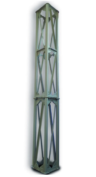 Опорная конструкция квадратная для дымохода PlusTerm (секция 6м. под внешний диаметр дымохода 500мм)