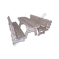 Стол с лавками деревянный (резной)