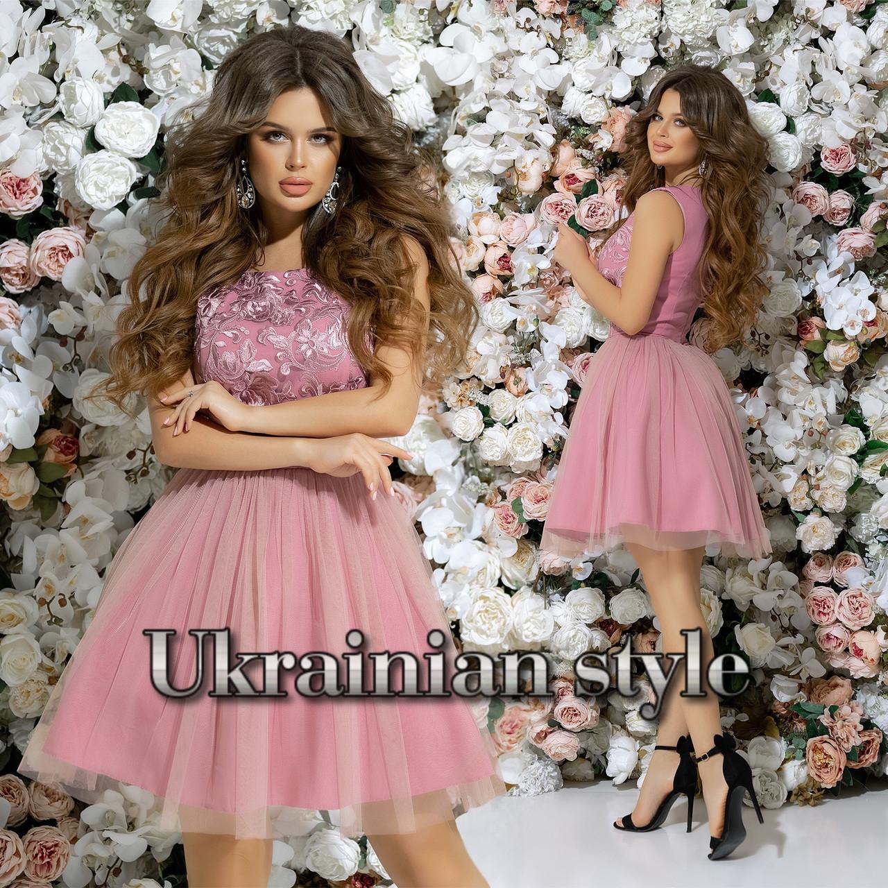 38f3ee1fbb7 Короткое вечернее платье с пышной фатиновой юбкой. 7 цветов ...