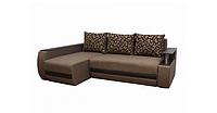 Угловой диван Garnitur.plus Граф коричневый 245 см DP-293, КОД: 181514