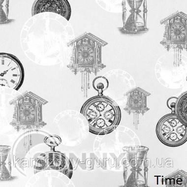 Рулонные шторы для окон в закрытой системе Sunny с плоскими направляющими - ПЛАСТИК, ткань  Time