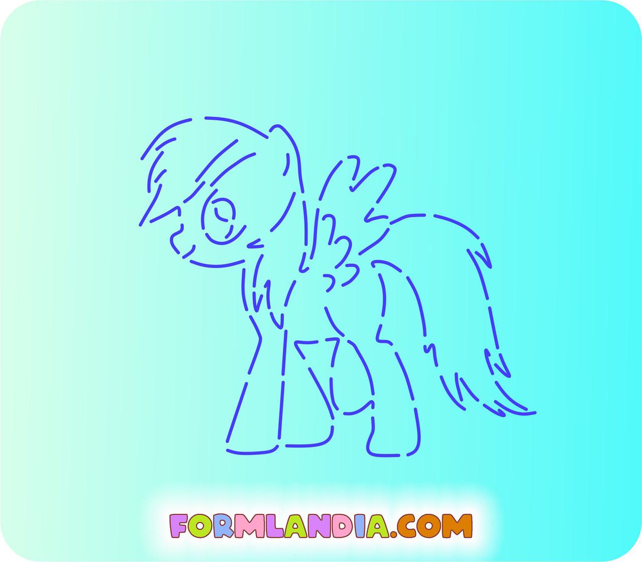 Трафарет + форма Маленькие пони №3