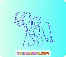 Трафарет + форма Маленькі поні №3