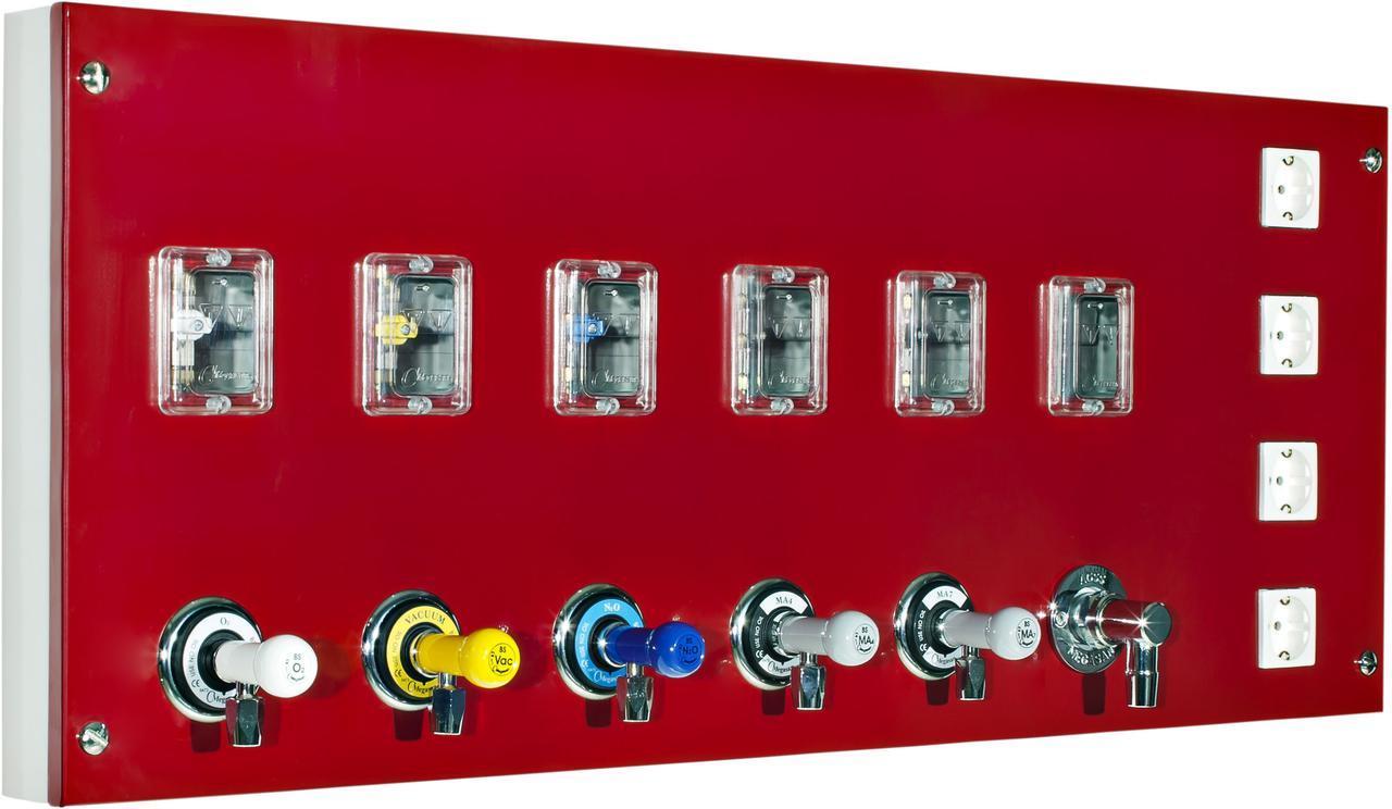 Модуль подачи на 2 газа с вентилями и электричеством
