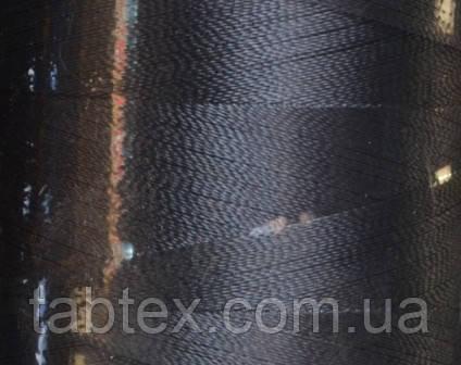 Нитка шелк для машинной вышивки embroidery 120den. №343 т.серый 3000 ярд