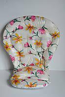 Чехол Chicco Polly Magic без бортиков цветы на молочном
