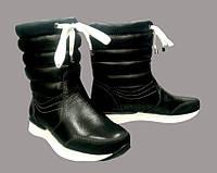 """Зимние кожаные полусапоги женские """"дутики"""" / women's shoes boots s-24, фото 1"""