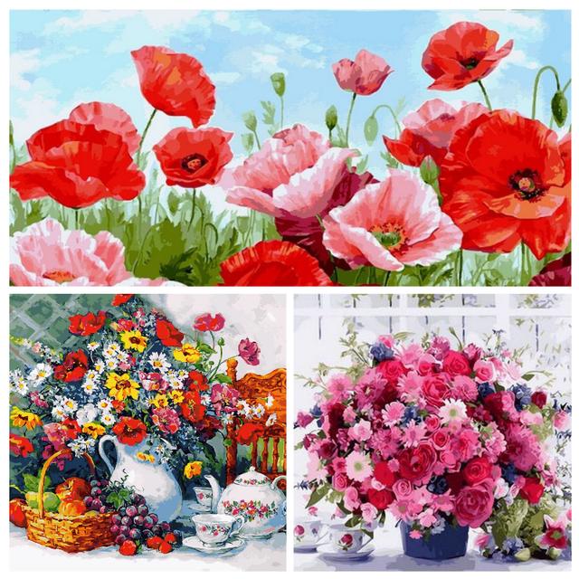 Картины по номерам Цветы, букеты, натюрморты в Киеве в интернет-магазине Po-Nomeram.com.ua