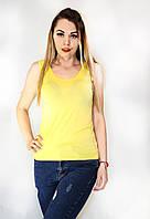 Женская летняя майка лимонного цвета, фото 1