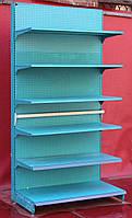 Пристенный (односторонний) стеллаж «Колумб» 245х132 см., на 6 полок, Б/у, фото 1
