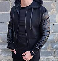 Бомбер мужской / куртка весенне-осенняя легкая черная