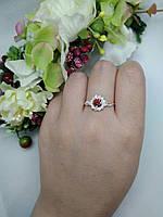 "Серебряное кольцо с золотыми пластинами""Жасмин"", фото 1"