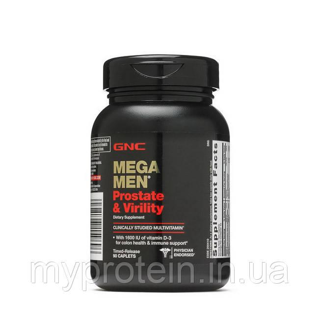 GNC  минералы для мужчин Mega Men Prostate & Virility (90 caps)