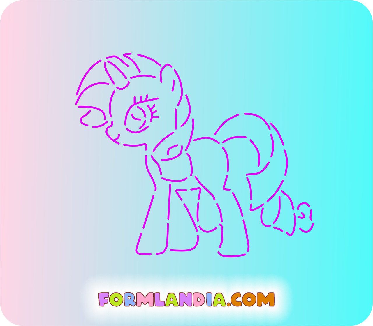 Трафарет + форма Маленькие пони №4