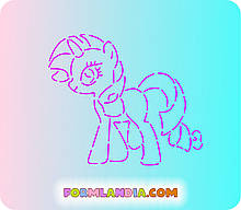 Трафарет + форма Маленькі поні №4