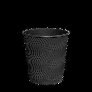 "Гофростакан ""Double Black"" 250мл. Євро 30шт/рук; 28рук/ящ; 840шт/ящ, (""РОМБ"" 81)"