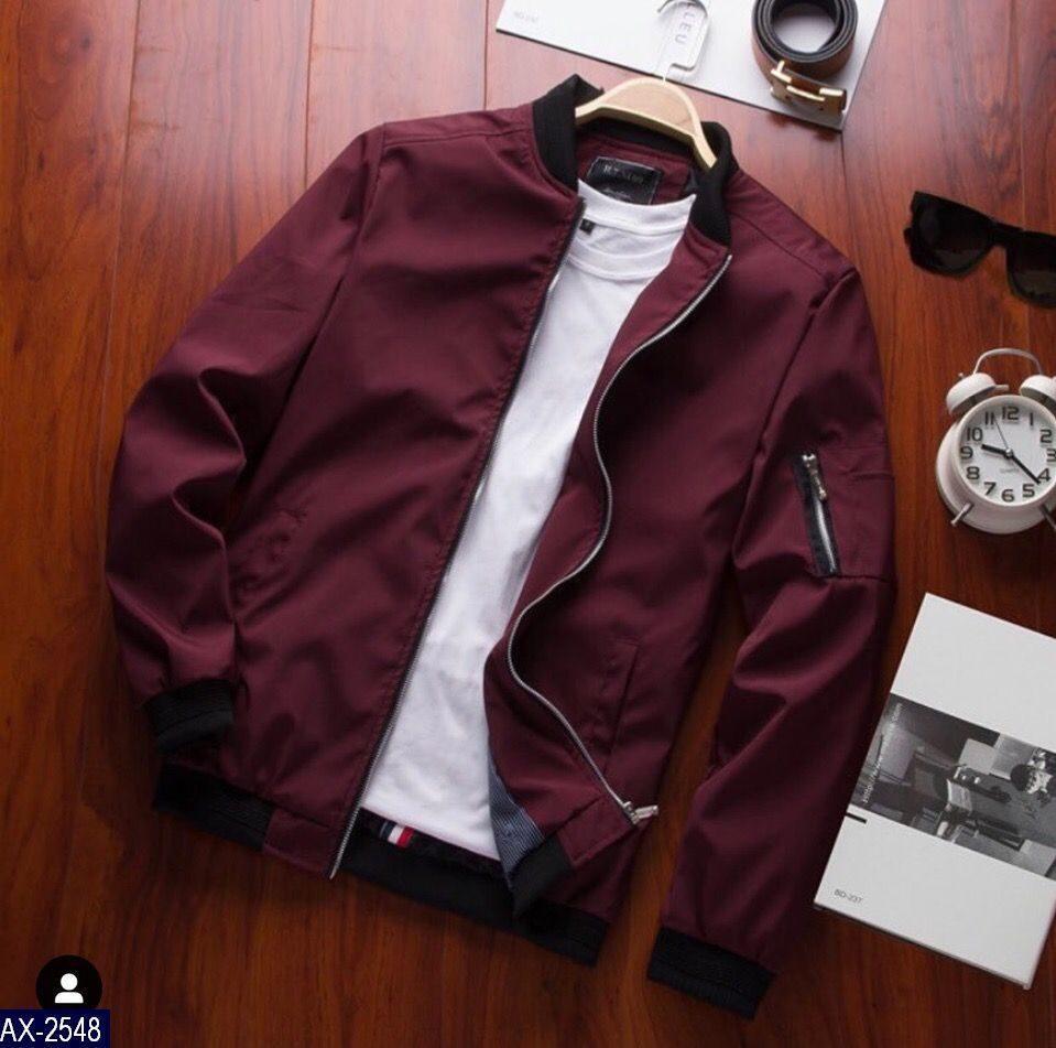 Мужская стильная осенне- весенняя  куртка на змейке с карманами (плащевка,мемори+подкладка)3 цвета