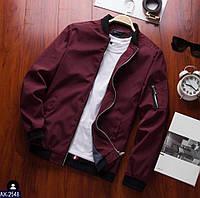 Мужская стильная осенне- весенняя  куртка на змейке с карманами (плащевка,мемори+подкладка)3 цвета, фото 1